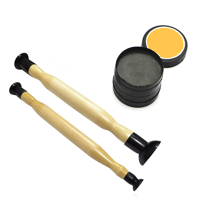 Valve Lapping Sticks Wooden Grip with Suction Cup Grinding Sand for Auto Motorcycle Cylinder Engine Valves dust Grinding tool