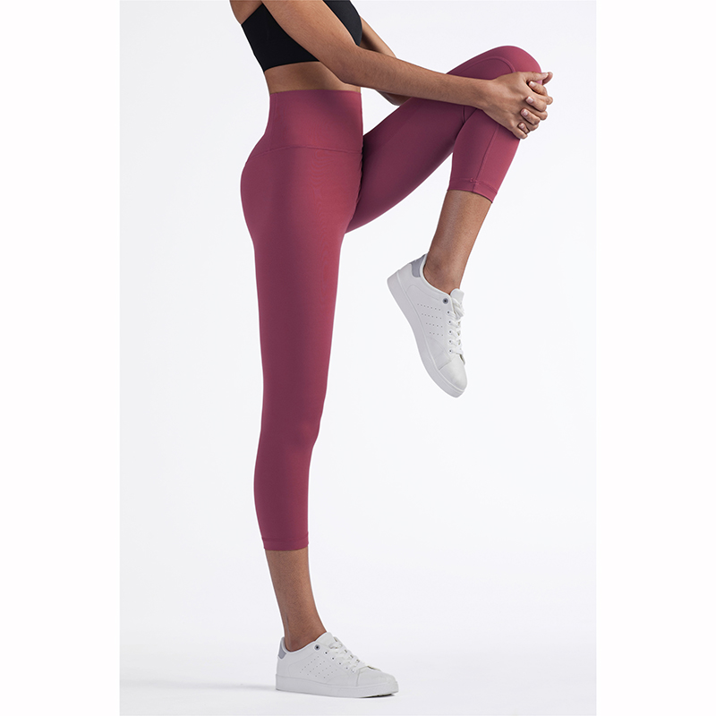 Vnazvnasi 2020 Hot Sale New Arrival Skin Friendly Female Yoga Leggings Solid Color High Waist Outside