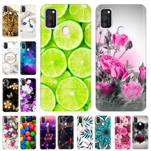 For Samsung M21 Case 6.4 inch Silicone Soft Back Cover For Samsung Galaxy M21 Case Cartoon TPU Coque for Samsung M 21 Bumper Bag