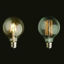 Vintage LED Filament Light Bulb Edison G125 Style, Golden Ti
