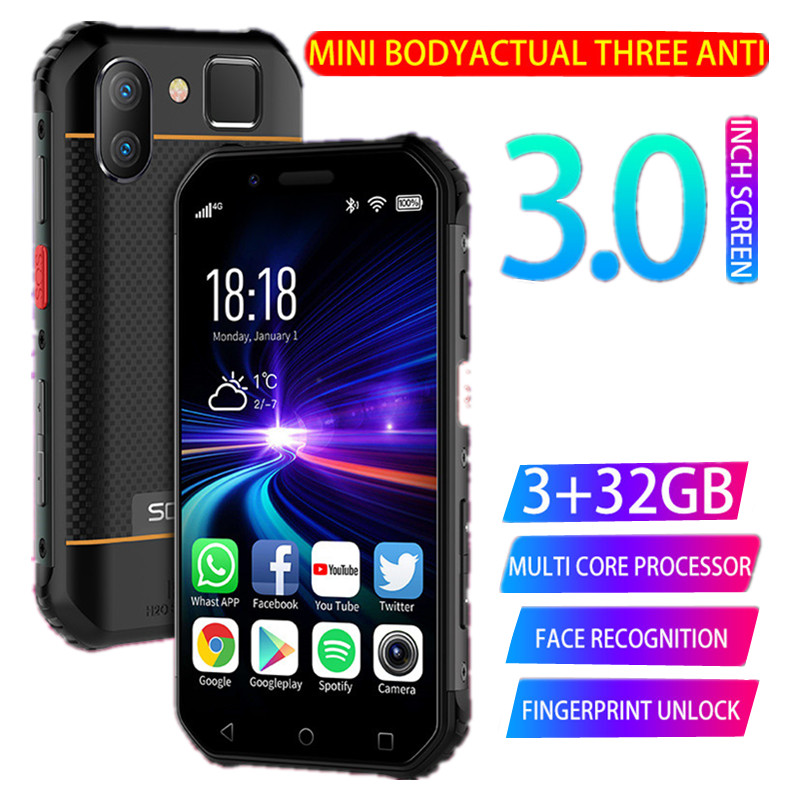 SOYES S10 Waterproof Mini Smartphone Walkie talkie NFC 3GB 32GB 4G 3'' Fingerprint 5MP Rugged Small Phone PK Melrose 2019END XS image