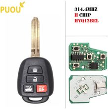 4 Tombol untuk Toyota Camry Corolla 2014 2015 2016 2017 Remote Mobil 315 MHZ H Chip FCC ID: HYQ12BEL(China)