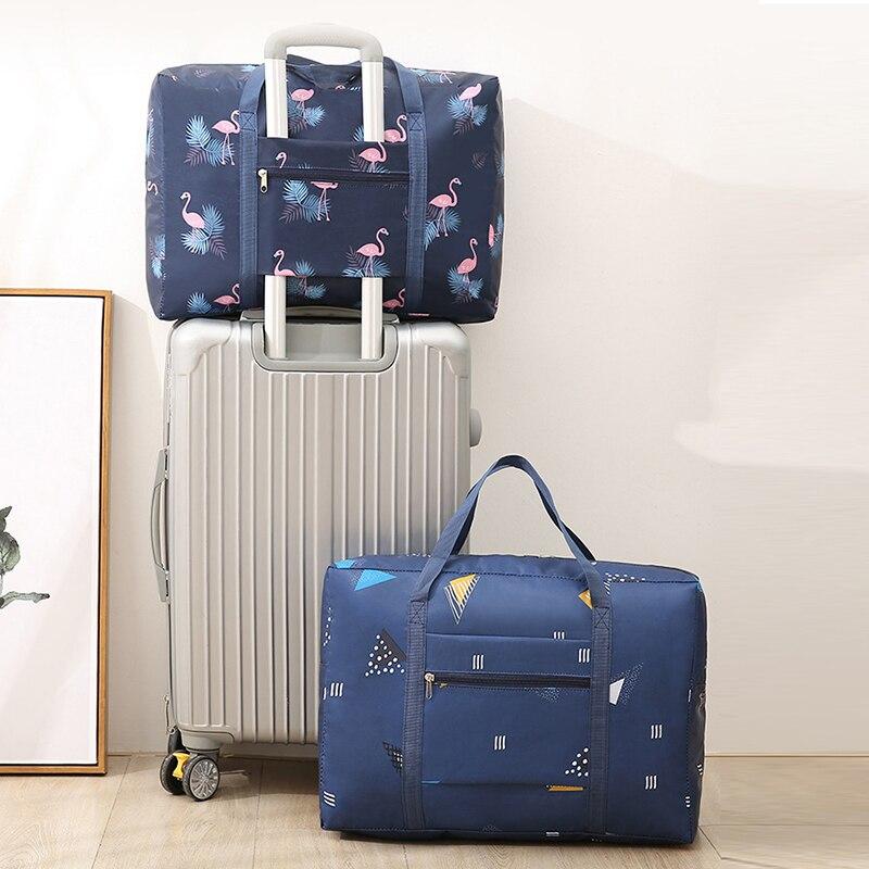 New Flamingo Travel Bag Waterproof Nylon Animal Women Travel Handbag  Folding Bag Unisex Luggage Organizer Duffel Bag