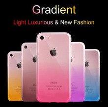 цены на Silicon case For iPhone 5 6 7 8 Plus S SE 5.0inch Cover Fundas Ultra Thin TPU Back Case For iPhone X XS XSmax XR Gradually Cases  в интернет-магазинах