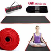 Colchoneta antideslizante gruesa de 10mm para Yoga, 183cm x 61cm, NRB, Pilates, ejercicio, Fitness, alta calidad, unisex