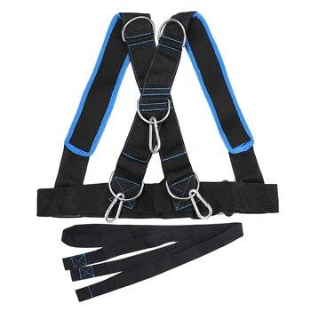 1 unidad de arnés de entrenamiento de trineo de entrenamiento de resistencia de la aptitud de entrenamiento de velocidad de ejercicio correa de hombro banda de resistencia