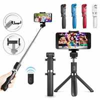 L01 tripod selfie stick mobile phone universal live triangle bracket one Bluetooth self-timer Integrated Wireless artifact