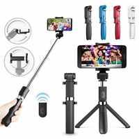 L01 tripod selfie stick mobile phone universal live triangle bracket one Bluetooth self-timer Integrated Wireless artifact