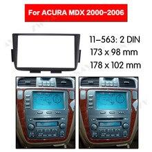 Радио Facia для ACURA MDX 2000-2006 2DIN кронштейн dvd-плеер фасции автомобиля стерео радио установка тире