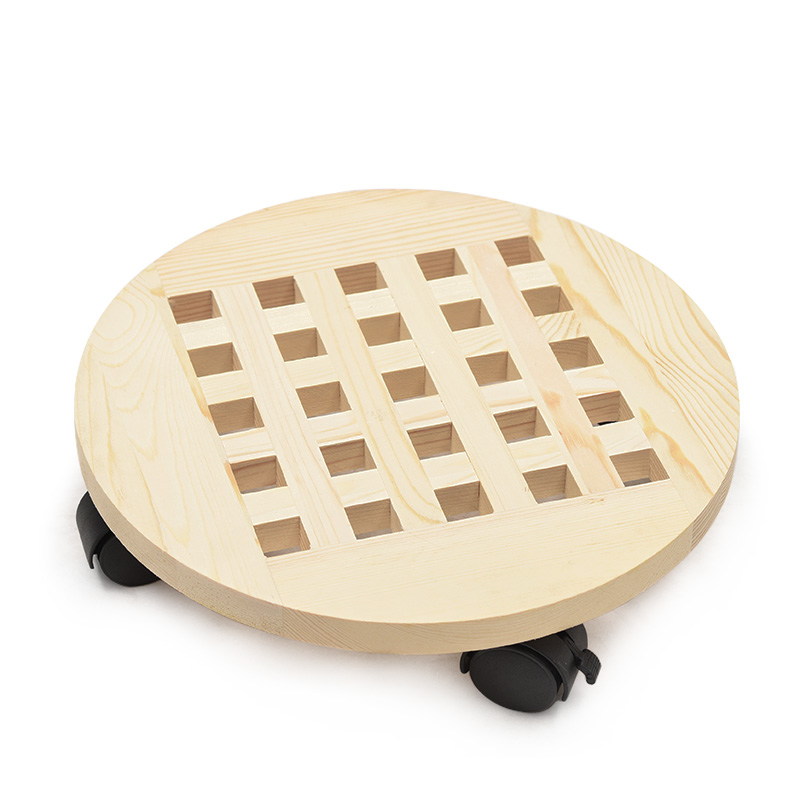 New Thickened Wooden Universal Wheel Flower Pot Moving Tray Square With Pulley Flower Stand Air Purifier Base