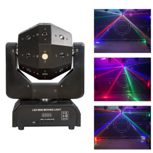 Double-arm beam DMX512 mobile head laser soccer DJ stage scene performance lights KTV disco bar clear bar