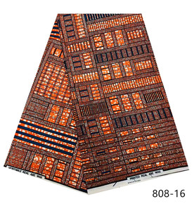 Image 5 - 2019 najnowszy styl 100% wosk poliestrowy tkaniny z nadrukiem Ankara wysokiej jakości 6 metrów afrykańska tkanina na imprezę sukienka darmowa wysyłka 2301