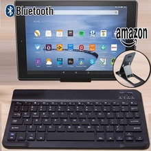 Wireless Bluetooth Keyboard for Amazon Kindle Fire HD 8.9″/Fire HD 10 2015 2017 Tablet for IOS Android Tablets Windows+Bracket