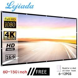 LEJIADA projector simple folding screen portable home outdoor KTV office 3d HD proyector office outdoor projection screen