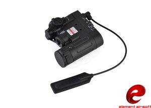 Elemento táctico, linterna Airsoft DBAL-EMKII IR, linterna Led láser rojo, multifunción IR, iluminador DBAL-D2 arma, EX328