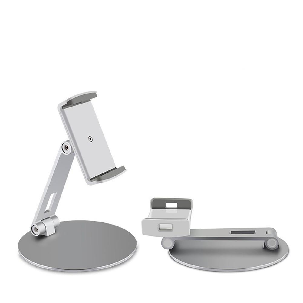 Yiwa Phone Tablet Stand Desktop Aluminum Alloy Holder Adjustable Collapsible Phone Holder for 4-14 Inches