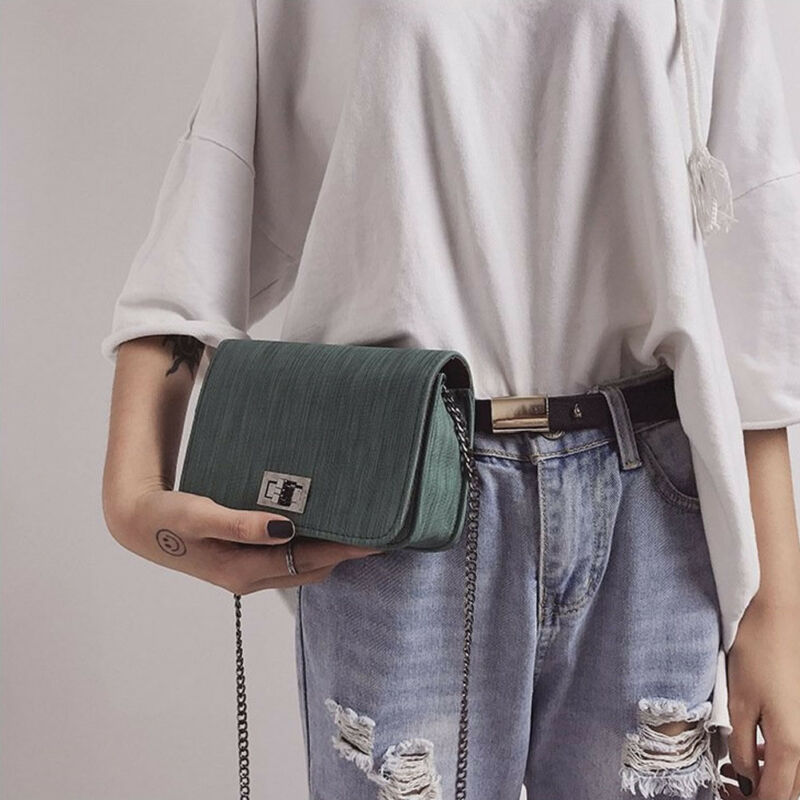 Hirigin Bags For Women Small Black Bags Fashion Female Chain Shoulder Bag Pack Portable Handbag Tote Ladies Messenger Bag