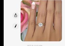 Индивидуальные изделия классический 2 карат Moissanit кольцо Brilliant Cut ювелирные изделия обручальное кольцо 585 кольцо