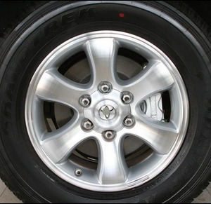 Image 4 - 4pcs 140mm 95mm Silver Full Chrome Wheel center Hub Cap Alloy hubcaps Fit 2007 2013 Toyota Land Cruiser 4000 Prado 4.0L