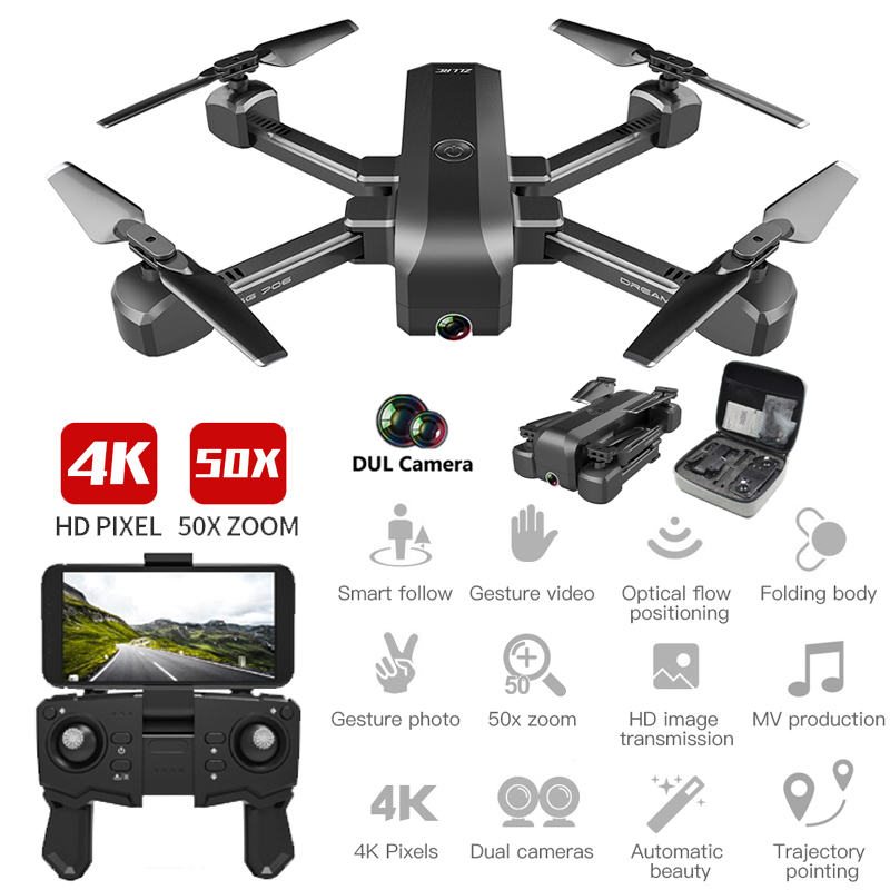 1080P / 4k Folding Drone Dual Camera WiFi FPV 2.4G Remote Control Drone RC quadcopter Optical flow positioning 15 minutes flight