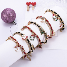 Christmas Bracelet Tree Santa Claus Elk Dangle Bangle Xmas Women Jewelry Gift Mens Bracelets 2019