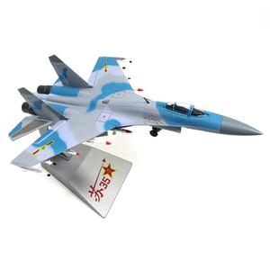 Image 4 - 1/72 échelle alliage combattant Sukhoi Su 35 avion de larmée de lair chinoise modèle jouets enfants enfants cadeau pour Collection