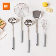 Xiaomi J & J antykorozyjna łyżka ze stali nierdzewnej łyżka/durszlak/łopatka/filtr/Egg Beater PP uchwyt przeciw poparzeniom gadżety kuchenne