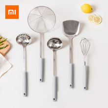 Xiaomi j & j防錆ステンレス鋼スープスプーン/ザル/へら/フィルター/卵ビーターppハンドル抗火傷キッチンガジェット
