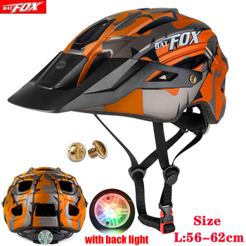 2020 New Batfox Bicycle Helmet for Adult Men Women MTB Bike Mountain Road Cycling Safety Outdoor Sports Safty Helmet batfox 2017 cycling helmet men woman road bicycle protection helmet integrally molded safty mountain mtb bike helmets