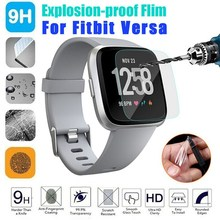 2pcs Soft Screen Film HD Tempered Glass 9H 2.5D Premium Protector for Fitbit Versa SmartWatch Band