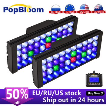 PopBloom Led Aquarium Light Led Marine Aquarium Led Lighting Reef Led Light Aquarium Led Tank Light For Coral Grow Lamp Turing30 sunsun ads aquarium led lighting aquatic plant grass fish tank led light super bright lamp aquarium light 12 24w grow lampe 220v