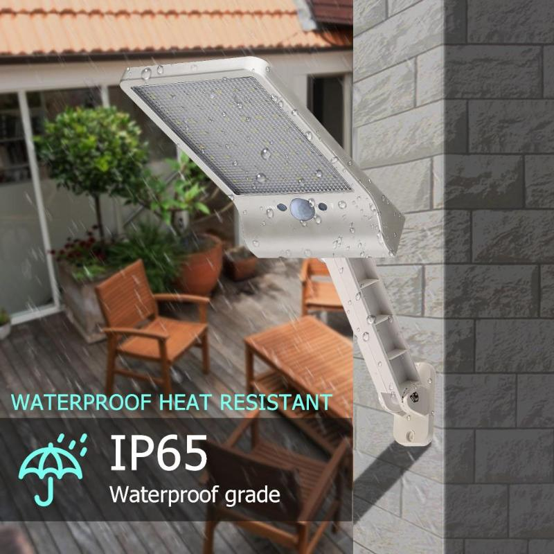 cheapest QLTEG 48 led Solar Light 450LM PIR Motion Sensor Ip65 Waterproof Outdoor street wall garden lamp rotable Remote Control