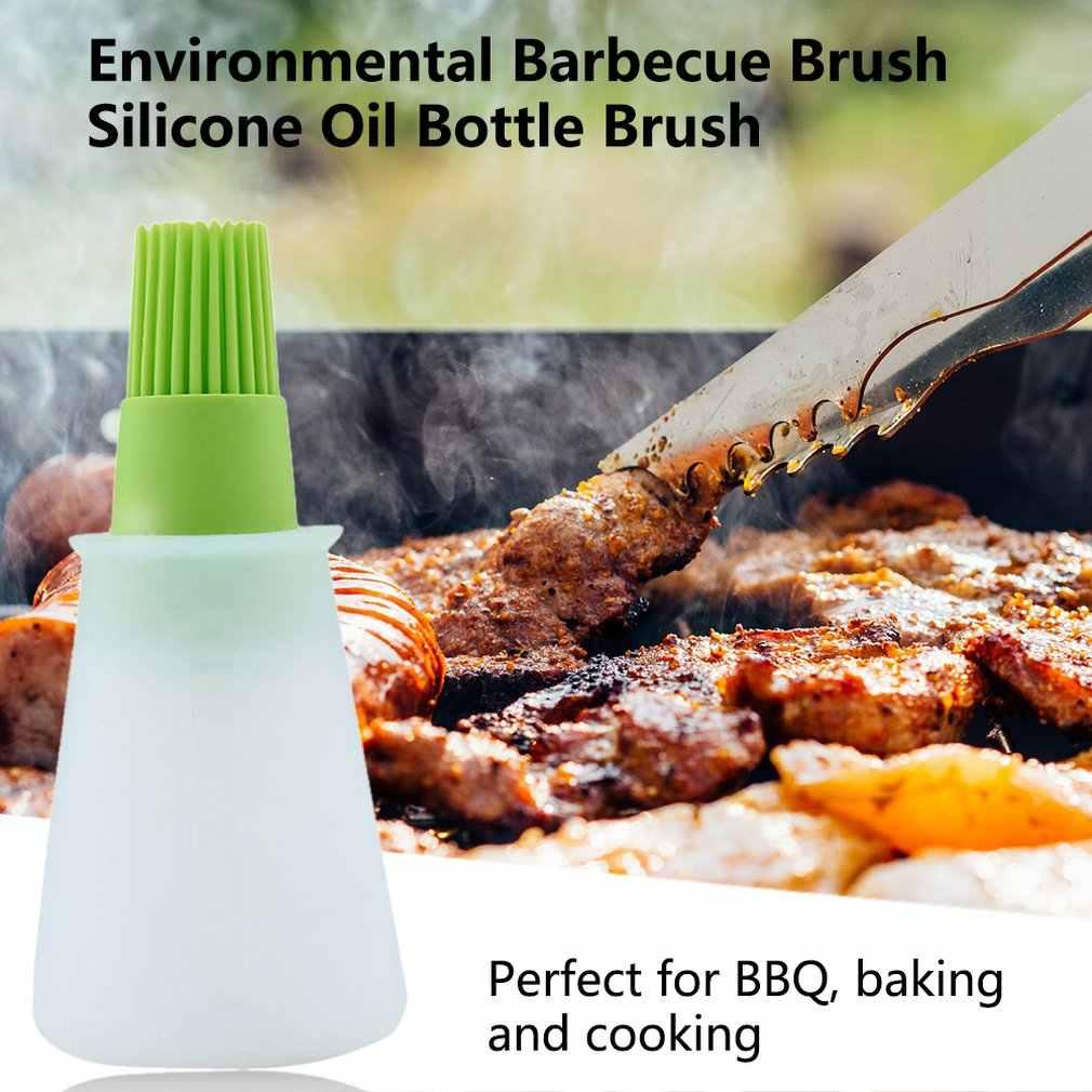 Barbacoa אחסון בקבוקי סיליקון שמן בקבוק עם מברשת לברביקיו בישול אפיית פנקייק מנגל כלים מטבח אבזרים