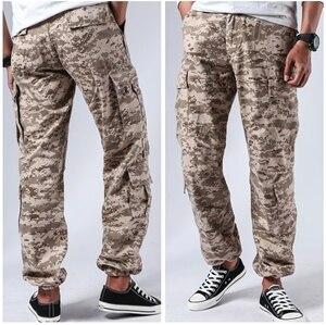 Image 2 - メンズ戦闘軍事戦術的なズボンマルチポケットカジュアル作業耐久性のある貨物パンツ