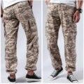 Calças táticas militares da carga do combate dos homens multi bolsos calças ocasionais duráveis da carga do trabalho