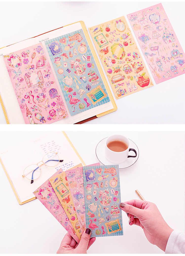 رومانسية الخيال فقط جميلة خرافة العالم الأميرة زهرة ملصق اليد حساب كتاب الطرفية المواد الديكور الساخن st