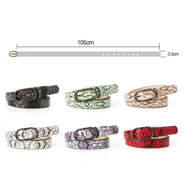 Women Imitation Leather, Snake Pattern Belt