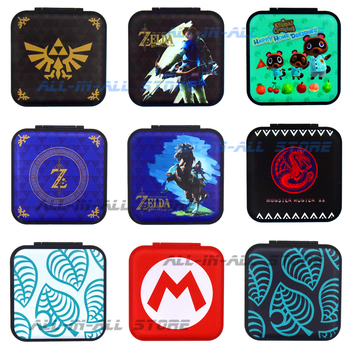 Nintend Switch 12 Game Card Storage Case 2-sided Pattern Games Protective Box for Nintendo Switch Nintendoswitch NS Accessories 1