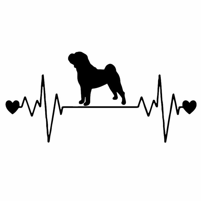 Shar-Pei Kleine Herz K276 Hund 6 Aufkleber
