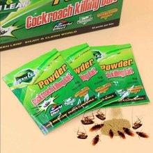 10 Packs Green Leaf Powder Cockroach Killer Bait Repeller Killing Trap Pest Control HY99
