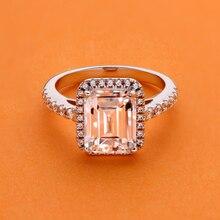 AINUOSHI 3,0 карат изумруд огранка Halo обручальное кольцо для женщин Имитация бриллианта кольцо на свадебный Юбилей 925 пробы серебро