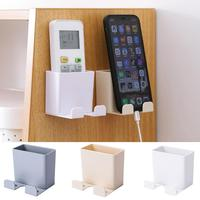 Phone Wall Control Holder Smartphone Hanging Wall Storage Rack Mounted Mobile Phone Wall Remote Holder Charging Holder