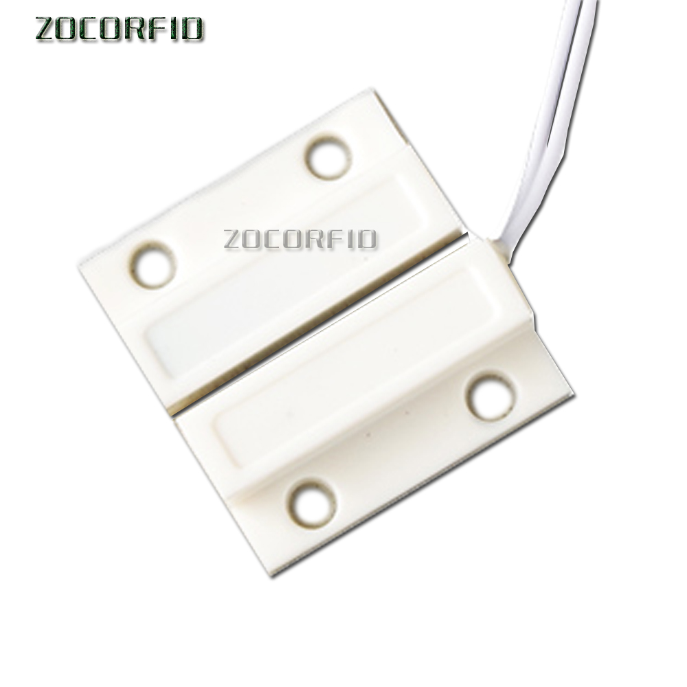 (1 Pair) Wired Door Window Sensor Magnetic Switch For Home Alarm System,When Sensor Together,normally Open NO Type