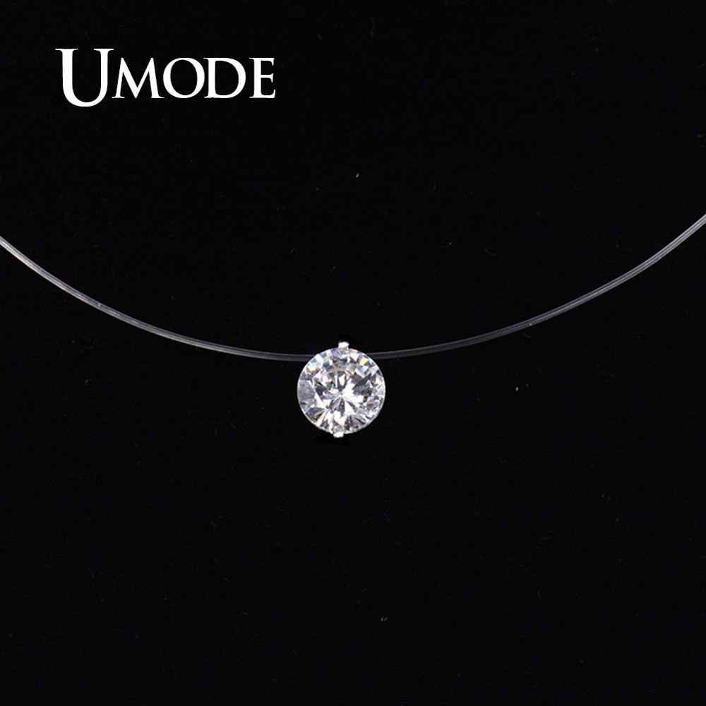 UMODE New Mermaid Tear Necklace Meteorite Pendant Transparent Fishing Line Invisible Women Necklace Jewelry Clavicle UN0362C