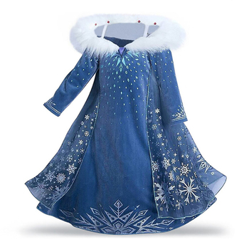 Girls Princess Dress  Kids Christmas Snow Queen 2 Elsa Anna Costume Children Carnival Party Cosplay Clothes Wig Crow Gloves froz 2en cosplay costume snow girl elsa dress costume halloween cosplay elsa anna costume princess ice queen outfit full set