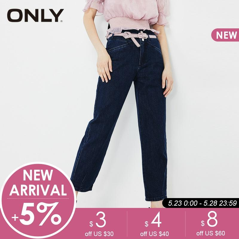 ONLY Women's Spring Loose Fit High-rise Crop Jeans|119149537