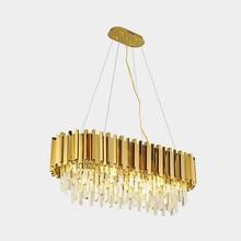 Jmmxiuz2018 novo lustre de cristal luxo iluminação moderna para sala estar jantar lustre cristal ouro luzes led