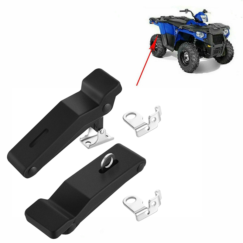 2877447 Flexible Rubber Front Storage Rack Latch 4Inch for Polaris Sportsman 500 550 800 850 1000 (2 Pack)