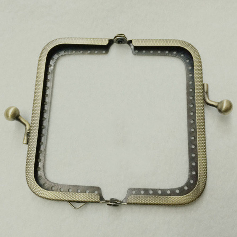 8.5cm Vintage Hardware Metal Bag Accessories Bronze Arch Kiss Clasp Durable Embossed DIY Sewing Purse Frame image