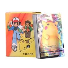 10-200 unids/lote niños Juego de batalla juguetes Pokemones Tarjeta de llegada GX EX MEGA Tarjeta de colección de juego